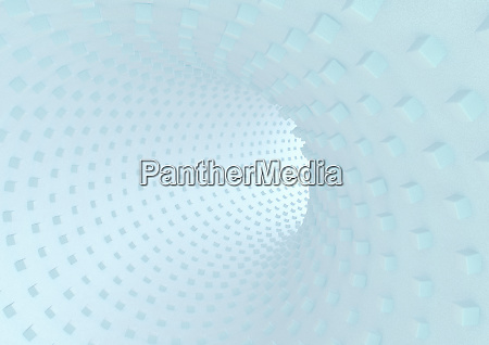 abstract textured curved tunnel