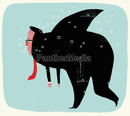 businessman, swimming, with, shark, fin - 26005211
