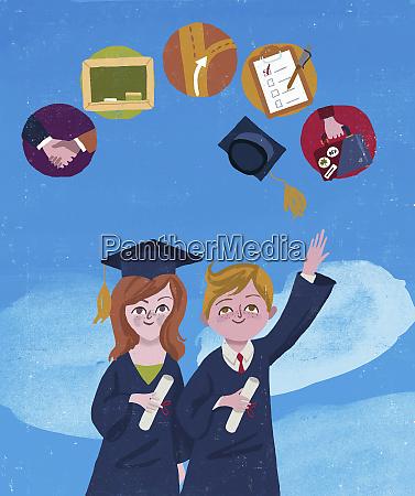 graduates imagining future