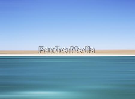 defocused view of ocean and horizon