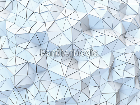 textured low poly surface of connected