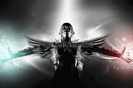 hero angel with arms outstretched