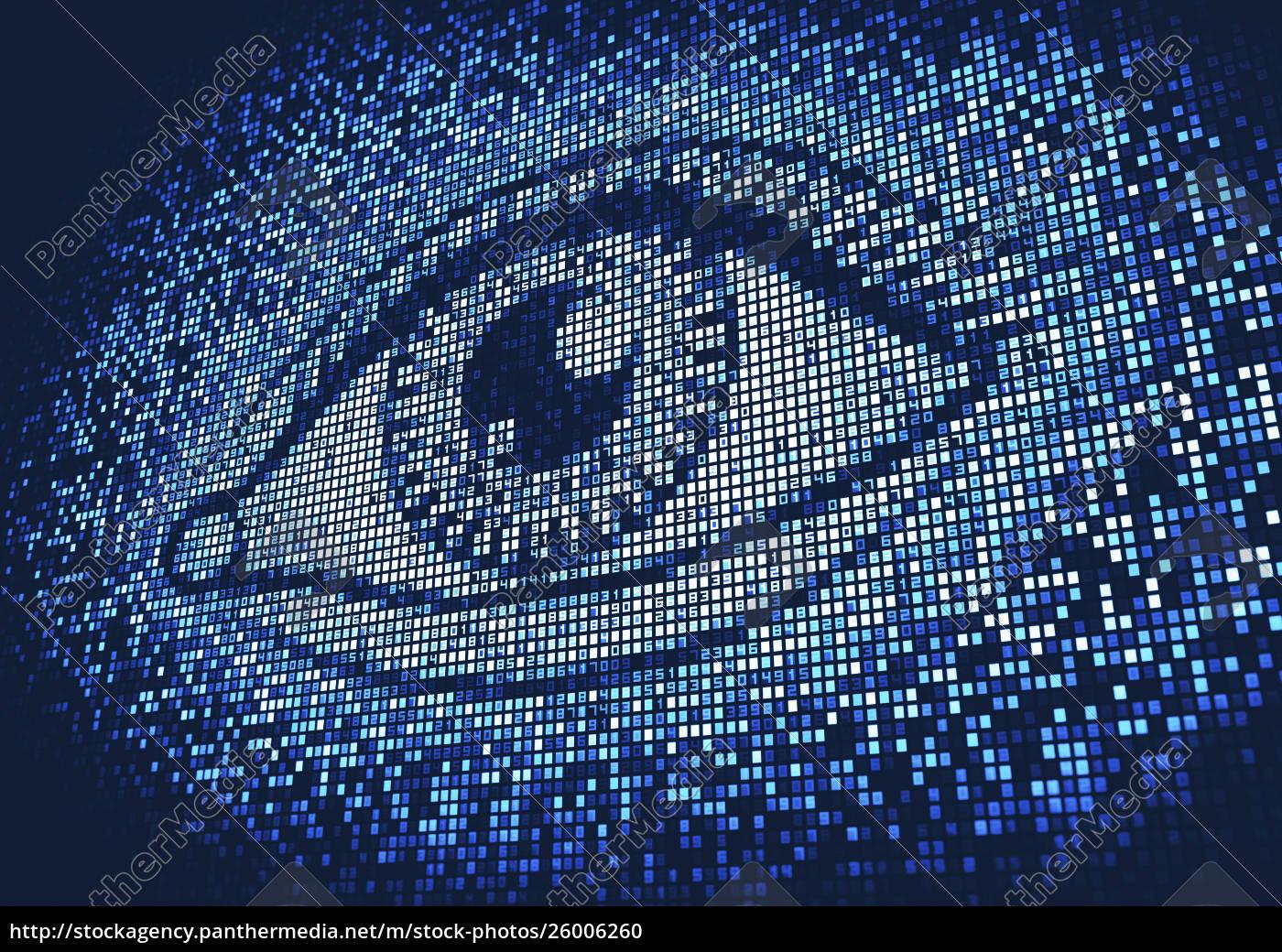 eye, lit, up, on, huge, digital - 26006260