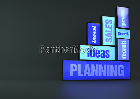 business growth strategy planning signs