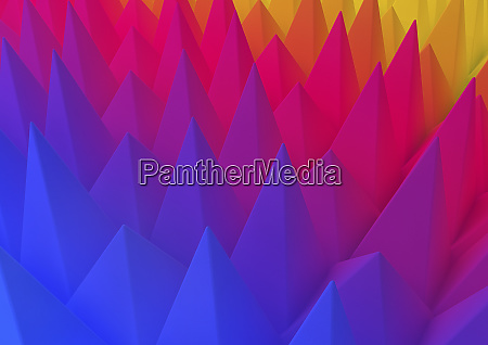 abstract backgrounds pattern of multicolored pyramid