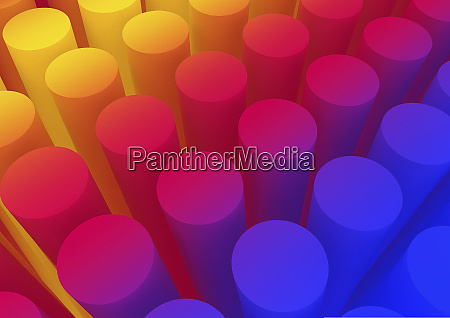 abstract backgrounds pattern of multicolored cylinder