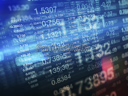 stock prices on multi layered stock
