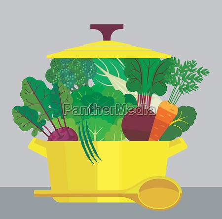 casserole dish full of healthy fresh