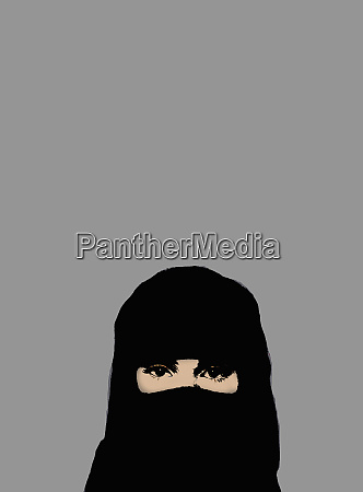 muslim woman wearing niqab