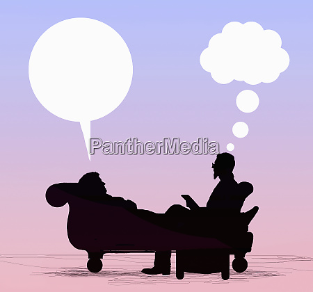 patient lying on couch talking to