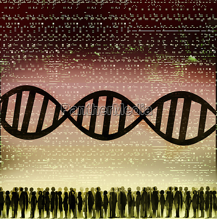 dna double helix coding and crowd