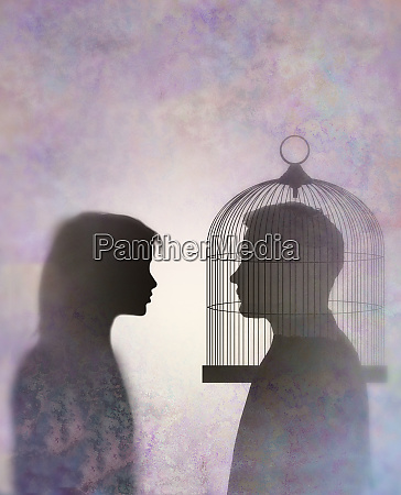 couple looking at each other with