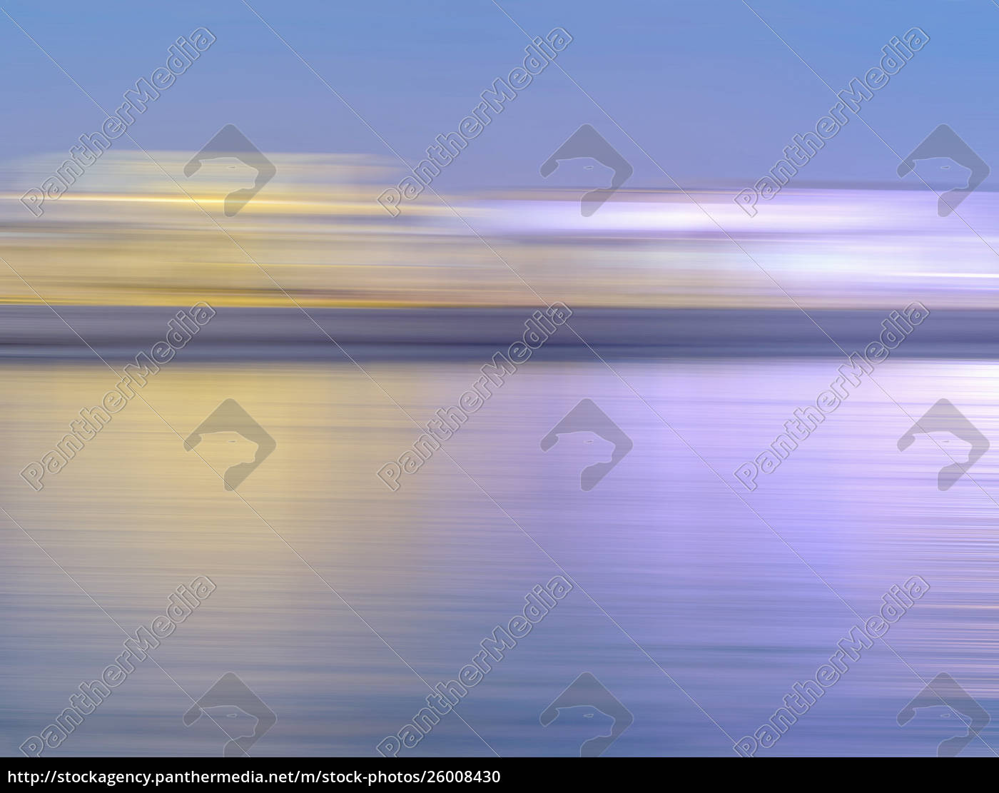 abstract, blurred, motion, skyline, over, water - 26008430