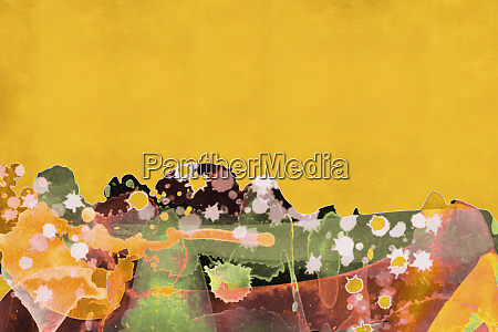 bright color abstract splatter