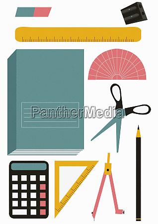 school stationery equipment set