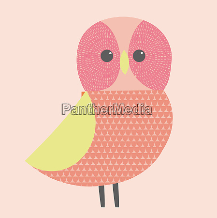 cute illustration of pink and green