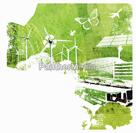 collage of environmental conservation issues