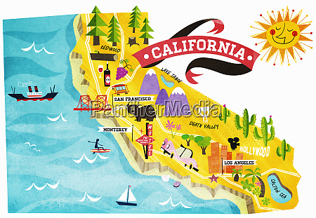 map of tourist attractions in california