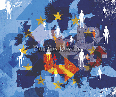 people across european union with lots