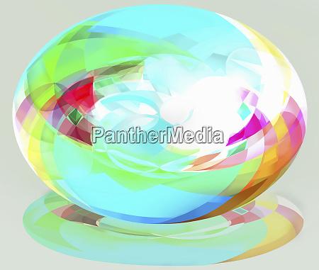 bright multicolored three dimensional ellipse