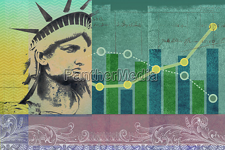 united states stock market collage