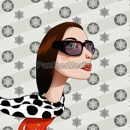 woman wearing sunglasses in front of