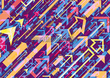 multicolored abstract of arrows
