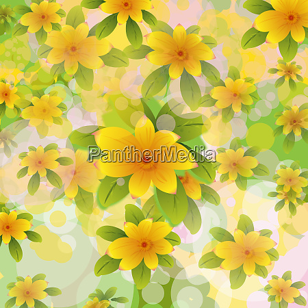 abstract backgrounds yellow flower pattern