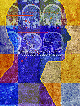 brain scans inside of profile on