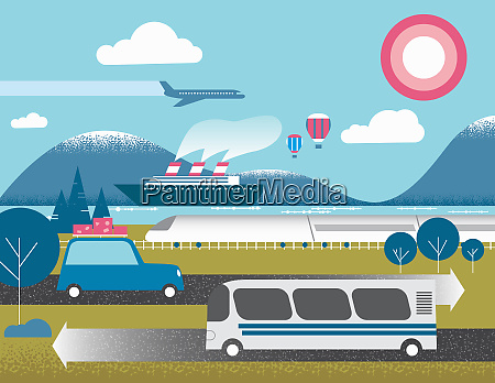 different forms of transport