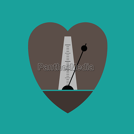 metronome in heart shape