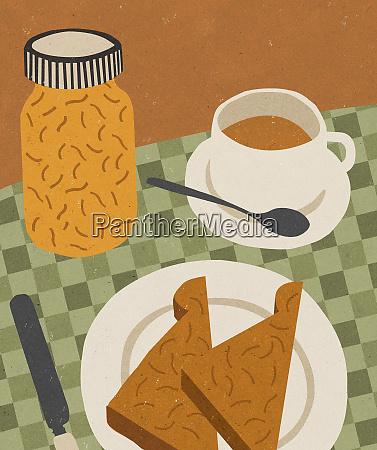 toast marmalade and tea for breakfast