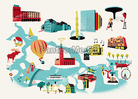 tourist attractions map of stockholm sweden
