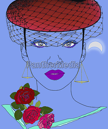 sophisticated libra woman zodiac sign with