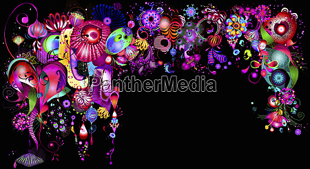 fluorescent bright colorful abstract background pattern