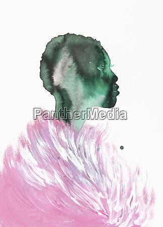 woman wearing fluffy pink stole