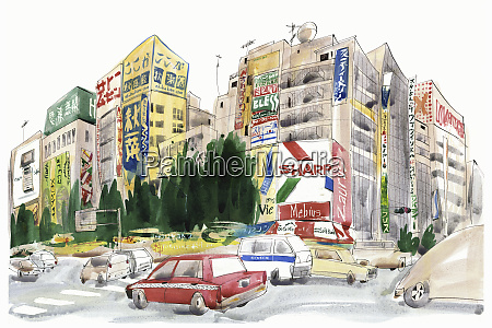 street in akihabara tokyo japan