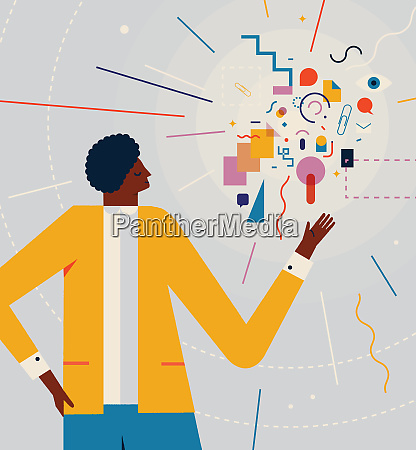 man, doing, presentation, with, colorful, shapes, - 26014489