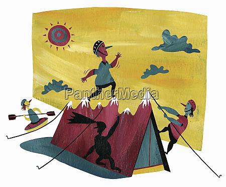 people, enjoying, various, outdoor, pursuits - 26014053
