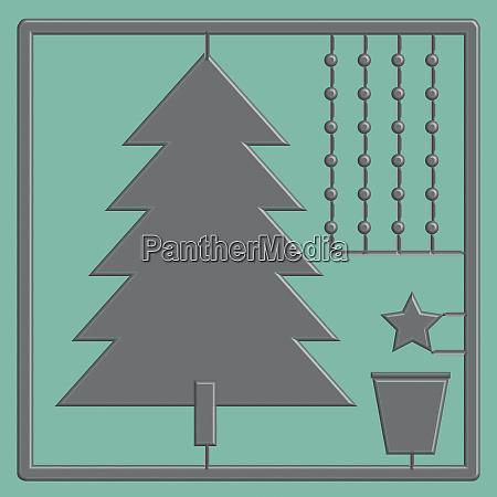 plastic model assembly kit christmas tree