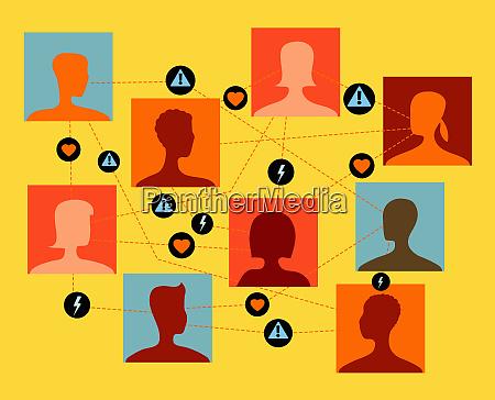 people choosing possible partners in online