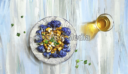 purple, cauliflower, and, cashew, nut, curry - 26015854