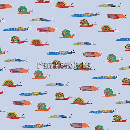 pattern of different multicolored snails and