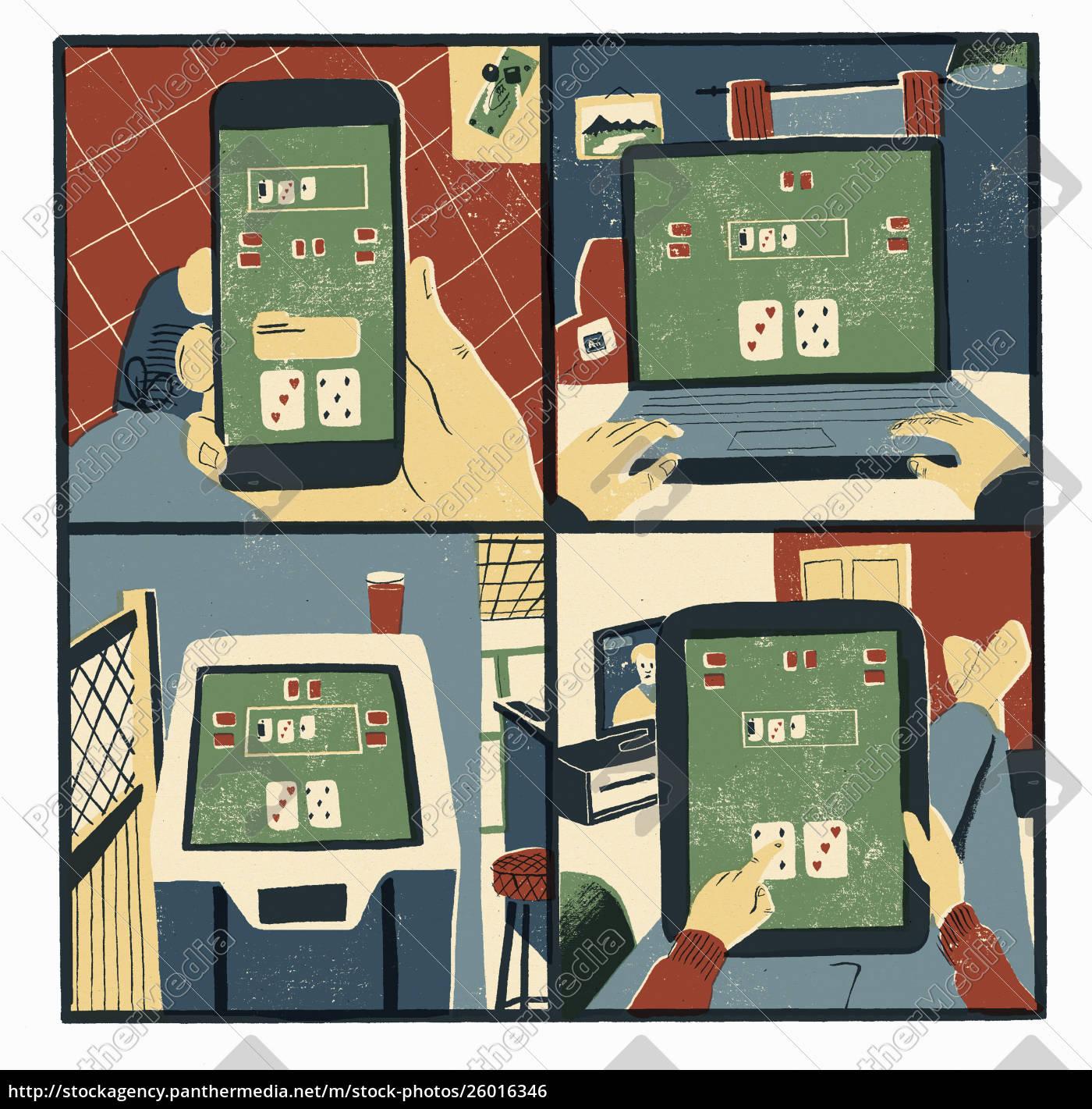 man, addicted, to, online, gambling - 26016346