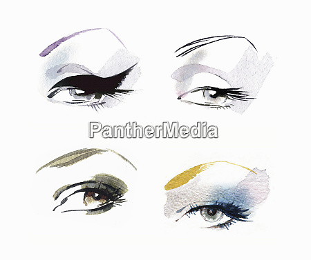close up of eyes wearing different