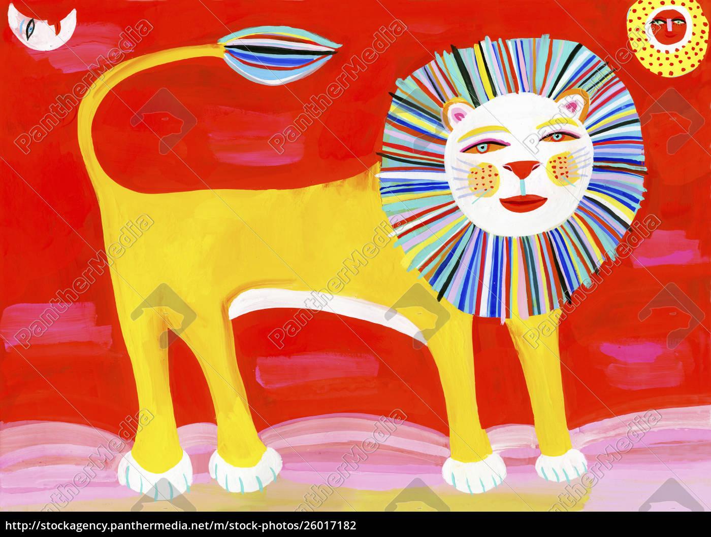 colorful, lion - 26017182