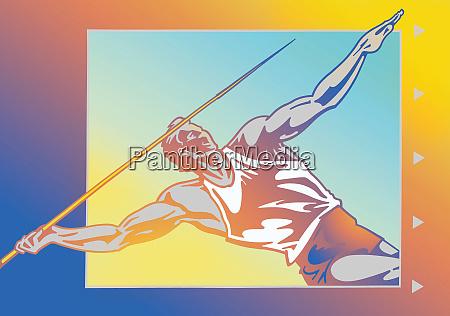 athlete throwing javelin