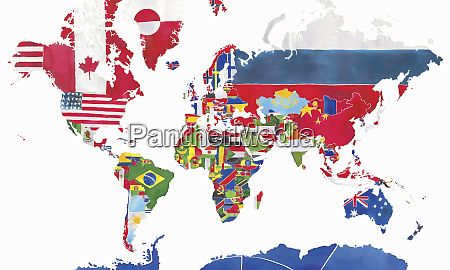 watercolor map of the world and