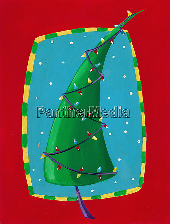 christmas tree with fairy lights