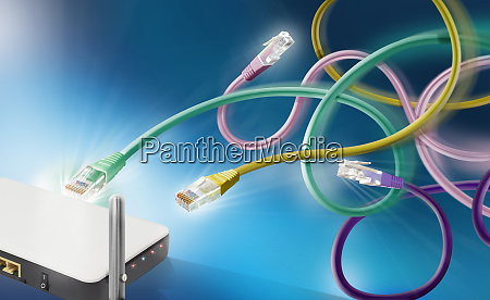 ethernet connection cables competing for access